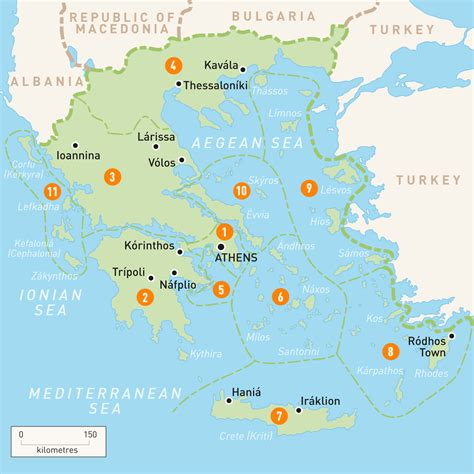 map  greece greece regions rough guides