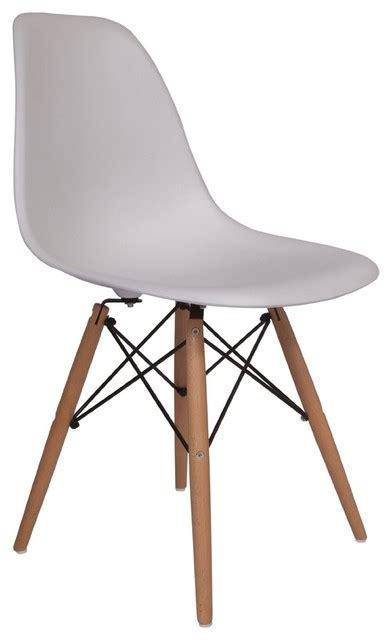 white desk with wooden legs lemoderno molded plastic side chair wood leg base white