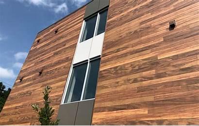 Wood Aluminum Faux Panels Decking Battens Materials