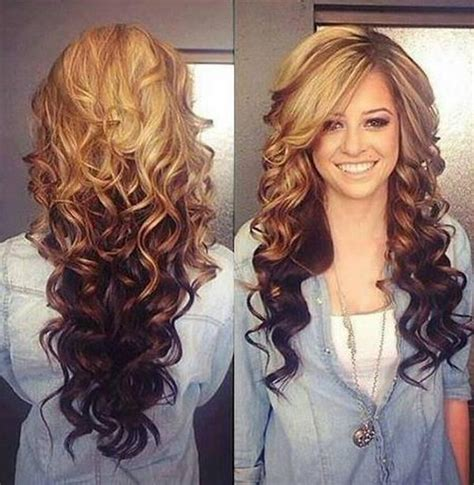 15 photo of two tone long hairstyles
