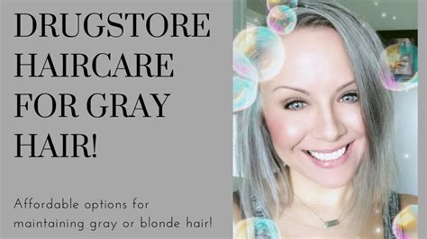 Drugstore Haircare For Gray Or Blonde Hair Youtube