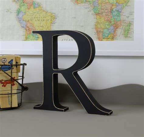 Standing Letter Decor - free standing distressed wooden letters alphabet decor