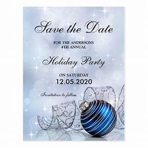 Christmas And Holiday Party Save The Date Template ...
