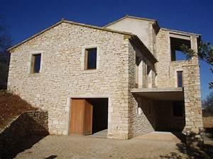 Construction En Pierre : construction d 39 une maison en pierre dans le gard ~ Premium-room.com Idées de Décoration