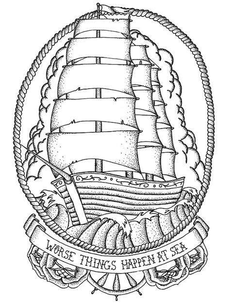 """Traditional Ship Design"" Stickers by Tara Margolis"
