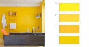 comment associer la couleur jaune en deco d39interieur With awesome quel mur peindre en fonce 12 conseils pour mon couloir
