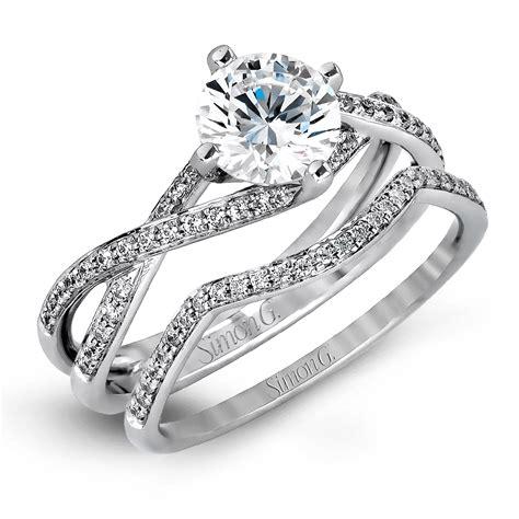 simon g classic romance collection kite set diamond bridal
