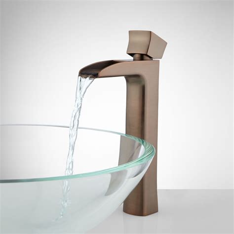 corbin waterfall vessel faucet bathroom