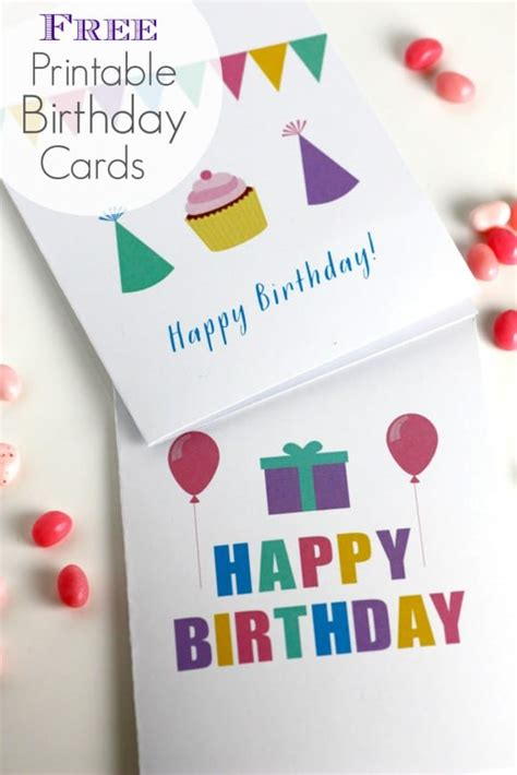 From virtual birthday cards to thank you cards, our personalized online greeting cards. Free Printable Blank Birthday Cards | Catch My Party