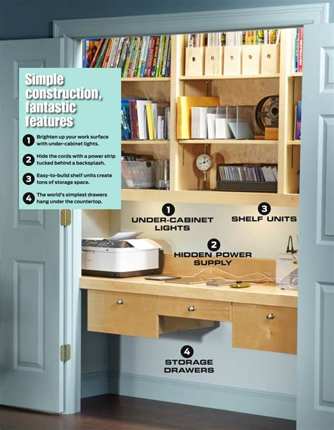 clever idea turn a closet into an office harry stearns