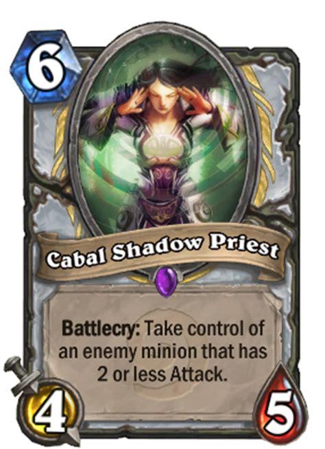 Shadow Priest Deck Hearthpwn by Cabal Shadow Priest Hearthstone Cards