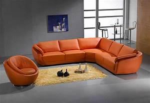 orange sectional sofa leather 767 leather sectionals With orange sectional sofa