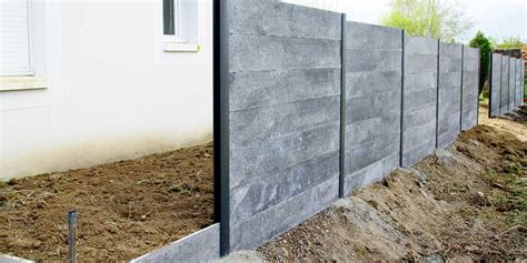 cloture beton prix prix d une cl 244 ture en b 233 ton