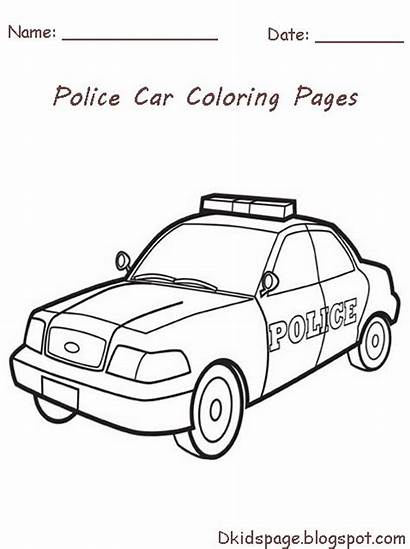 Police Coloring Pages Printable Officer Cars Colouring