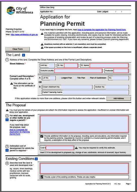 planning permission application form planning permit application lgam knowledge base