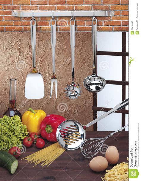 accroche ustensiles de cuisine accrocher d 39 ustensiles de cuisine image stock image du