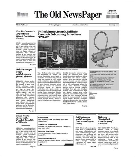newspaper template  blank google docs word