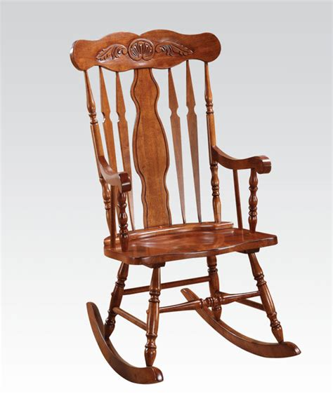 rocking chair in oak by acme furniture ac59301