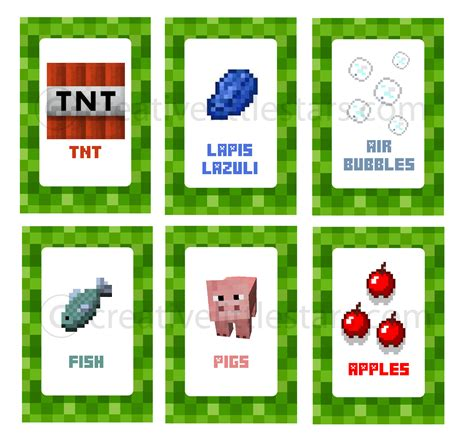 label cuisine printable minecraft food labels creative