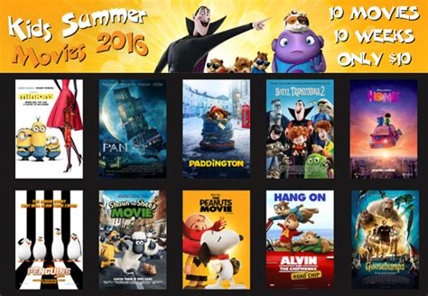 Summer Activities For Kids 10 Megaplex Movies For $1 Each