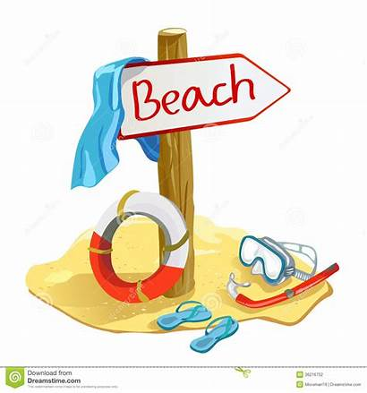 Beach Items Illustration Vector Clipart Pointer Holiday