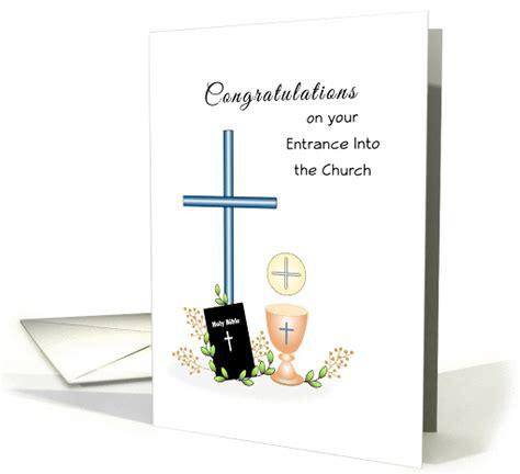 rcia congratulations greeting card entrance