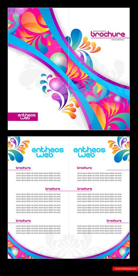 Coreldraw Brochure Templates Tutorials by Colorful Brochure Design In Coreldraw