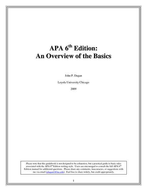 Apa 6th Edition Template Free Apa 5th Edition Template Search Engine At