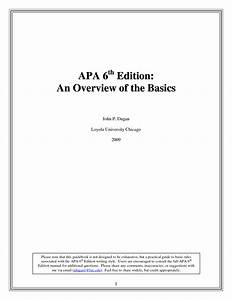 apa 6th edition template e commercewordpress With free apa template 6th edition