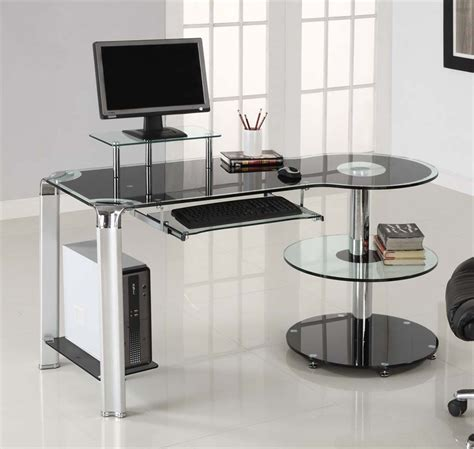 Most Appropriate Glass Computer Desk With Shelves  Atzinem. Ergonomic Desk Accessories. Stiga Table Tennis Table. Cheap Student Desk And Chair Set. Butterfly Table Tennis Racket. Best Height For Standing Desk. Locking File Drawer. Drawers White. Middle Atlantic Desk
