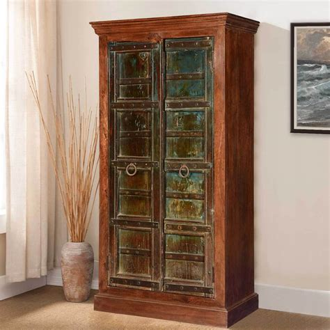Wooden Armoire Cabinets by Rustic Mango Reclaimed Wood Wardrobe Armoire Cabinet