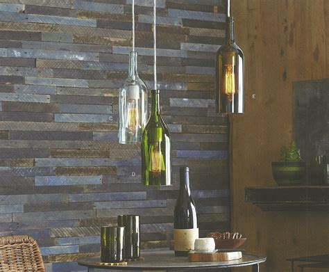 Claret Wine Bottle Pendant Lamps