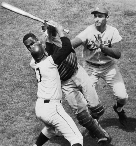 juan marichal hit john roseboro  bat  ugly baseball