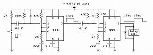 555 Timer Generating A Delayed Pulse Schematic