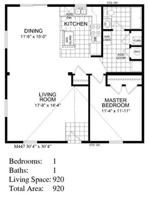 floor plans for homes backyard cottage 447 floor plan