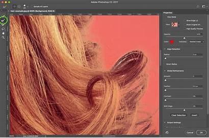 Photoshop Hair Mask Select Cc Zoom Edge