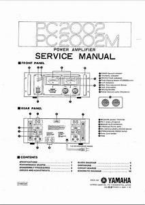 Yamaha Pc-2002   M Power Amplifier  Original Service Manual