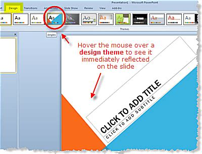 design themes  powerpoint
