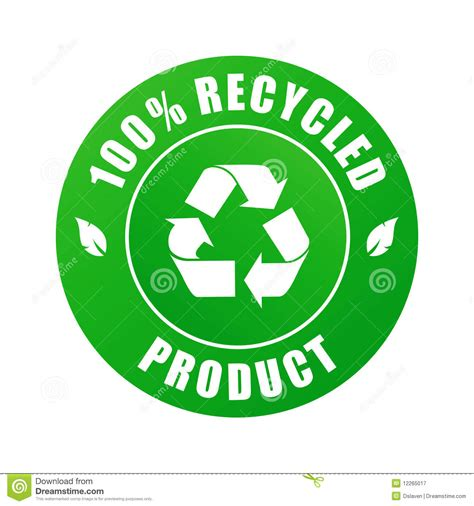 100 % Recycled Product (vector) Stock Vector