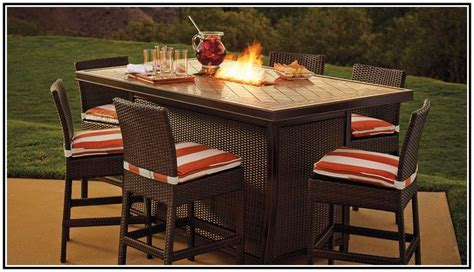 bar height patio table with pit 17 best images about deck furniture on