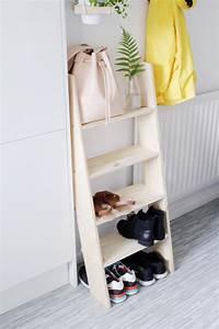 DIY Ladder Shelf Shoe Storage – Design*Sponge