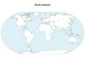 Vector World Map Continents