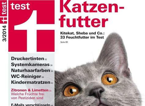 kritik  katzenfutter test der stiftung warentest