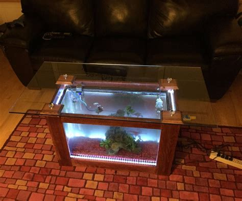 fish tank coffee table 6 steps with pictures
