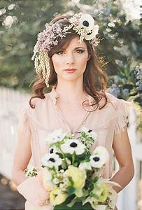 Black and White Anemone Flower Crown | Wedding Hairstyles ...