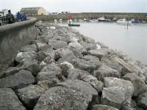 Rock armour, Minehead sea front and... © Robin Stott ...