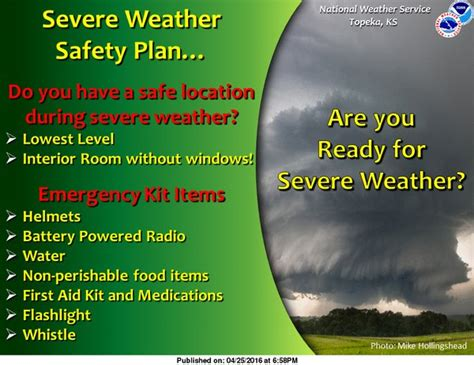Severe Weather Safety Plan