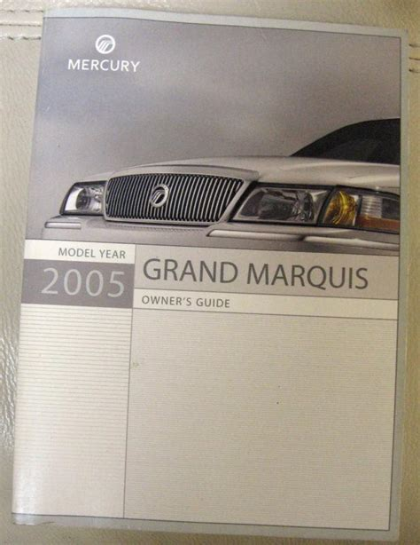 free download parts manuals 2005 mercury grand marquis parking system purchase 2005 mercury grand marquis owner s manual motorcycle in kyle texas us for us 7 00