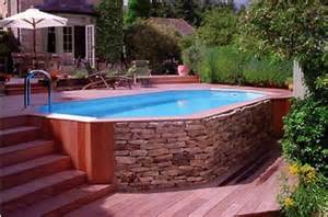 Outdoor Above Ground Pool Deck Ideas