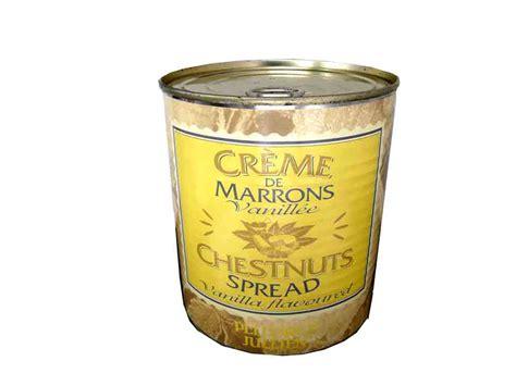 cuisiner des marrons en boite creme de marrons vanillee boite 1kg pellorce julien cm4